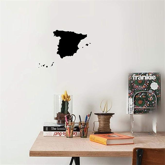 pegatina de pared 3d pegatina de pared frases España Mapa ...