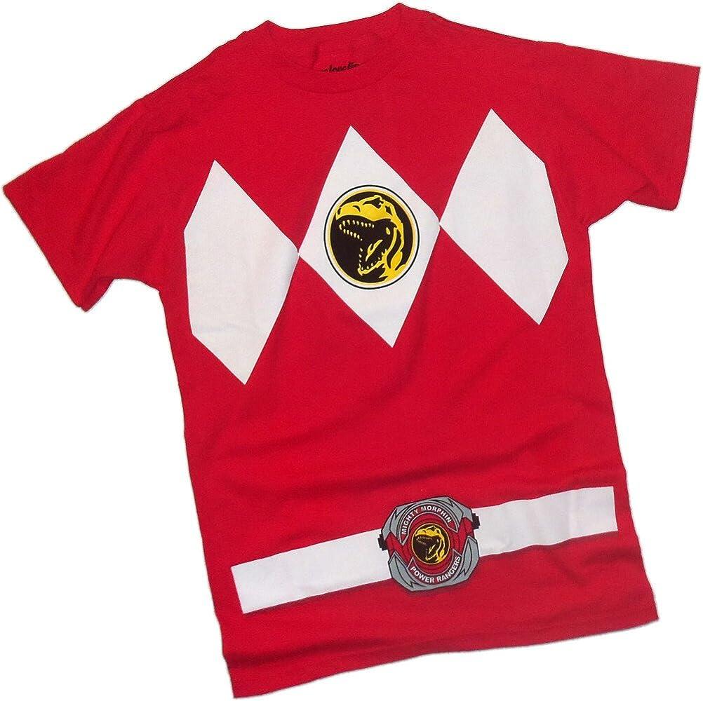 Power Rangers Red Ranger Traje - Mighty Morphin Camiseta, XXL ...