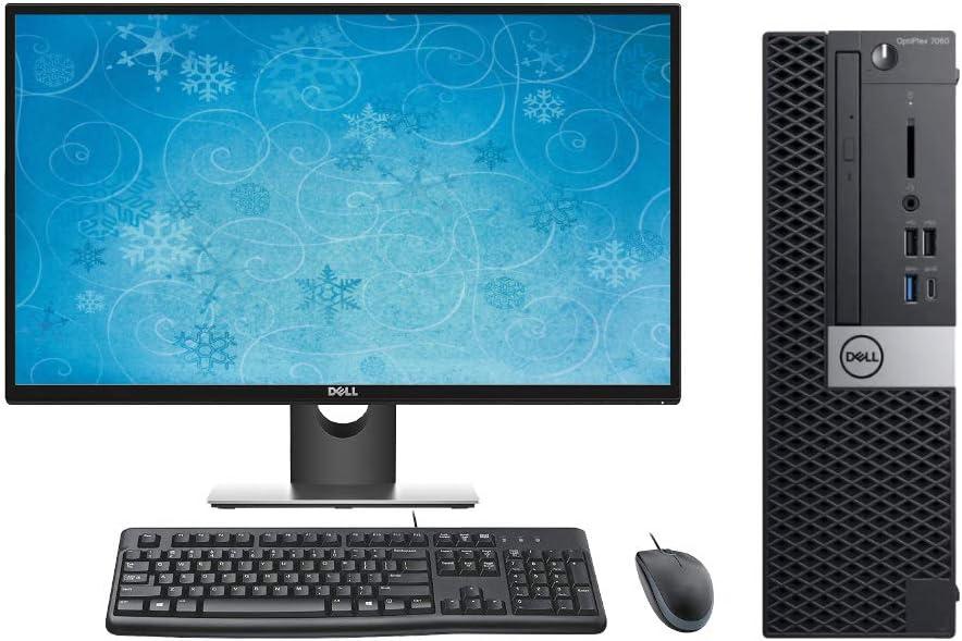 "Dell Optiplex 7060 SFF Performance Desktop PC Bundle, 27"" Display, Keyboard, Mouse, Intel i7-8700 3.2GHz, 64GB RAM, 2TB M.2 SSD, Windows 10 Pro OS"