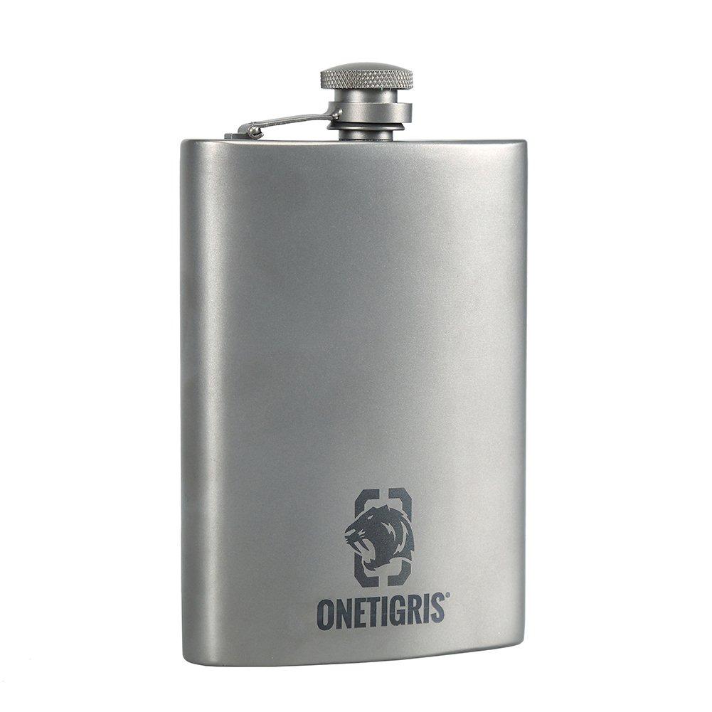 OneTigris Binokular Titan Flachmann, gesundes Getränk Flasche Outdoor Camping Wein Flachmann 8 OZ