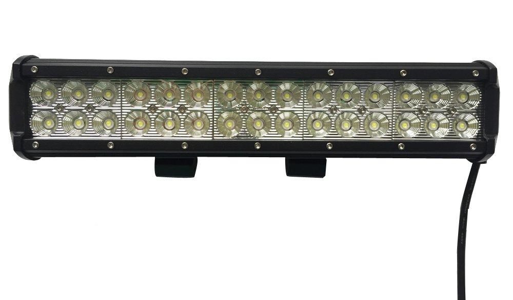 Leetop 90W LED Phare de Travail Noir Feux WorkLight Spot LED Phares de Voiture Tout-Terrain Supplé mentaires l'é clairage des Travaux Tout-Terrain