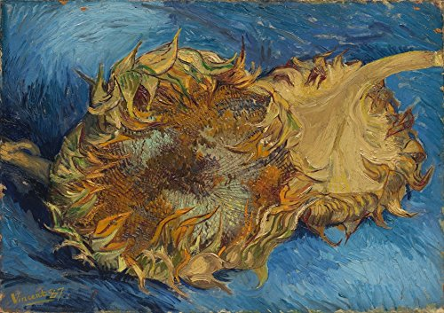 (Wieco Art Sunflowers Floral Giclee Canvas Prints Wall Art by Vincent Van Gogh Famous Oil Paintings Reproduction Modern Stretched and Framed Artwork Flowers Pictures for Bedroom Home Decorations)