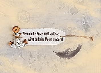ABVERKAUF 3 Gleiche Grußkarten Maritim Mit Spruch Und Anker Zum Geburtstag;  Geburtstagskarte Zum Mut Machen