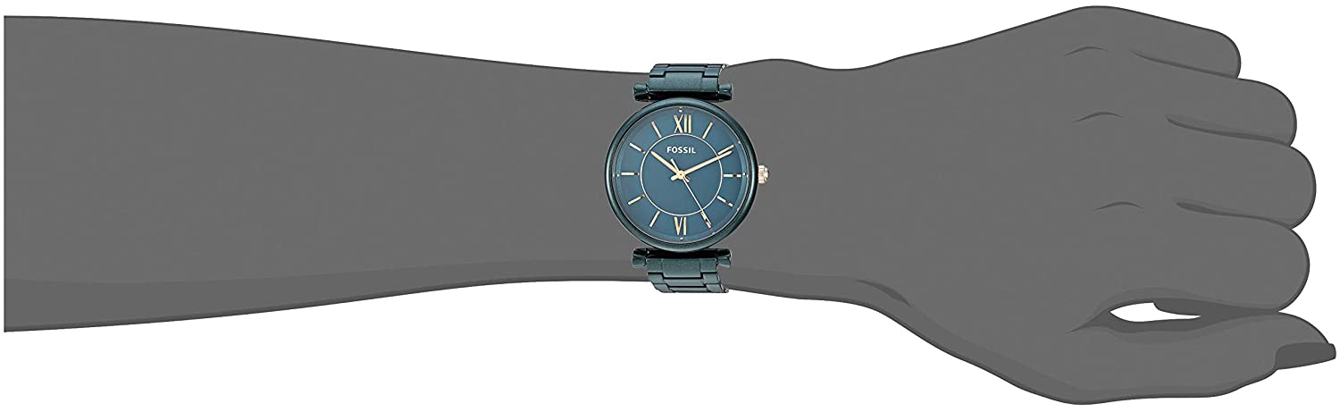 3df0200d1 Amazon.com: Fossil Women's Carlie Quartz Stainless Steel Dress Watch Color:  Green (Model: ES4427): Watches