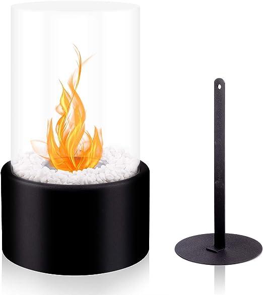 Black Sharper Image Tabletop Fireplace