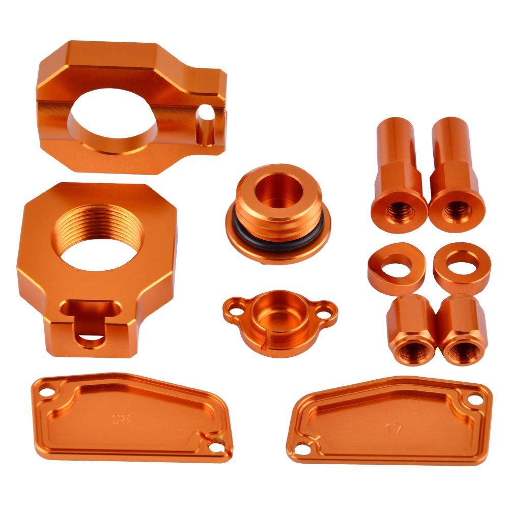 NICECNC Oil Filler Rear Tire Valve Stem Caps Rim Lock Nuts Axle Blocks Rear /& Front Brake Master Cylinder Plug Clutch Cover Replace KTM 85SX 2015-2017 2018 2019,FREERIDE 250R 2014-2017,350 2013-2017