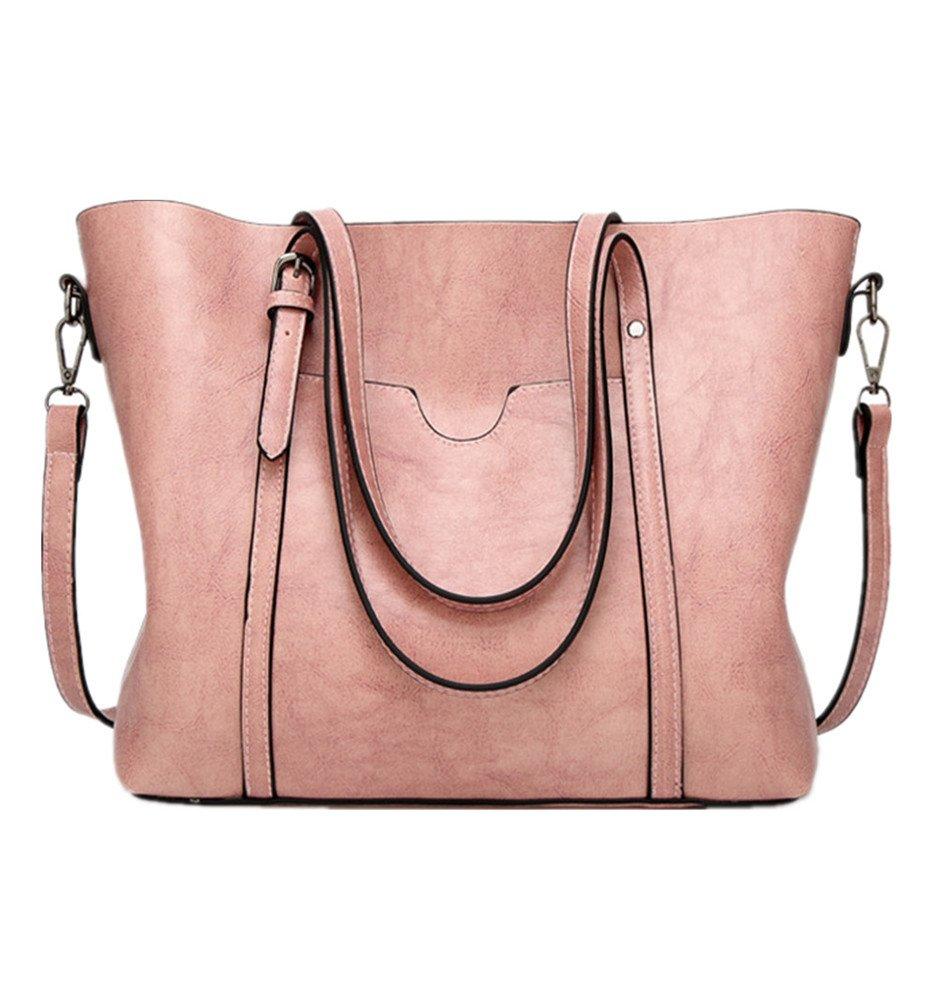 Large Work Tote Bags For Women Designer Top Handle Satchel Handbags Shoulder Messenger Purse Pink