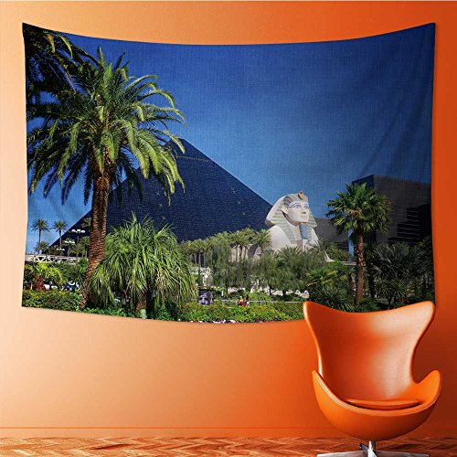 AmaPark Tapestry Wall Tapestry Luxor Hotel Casino on Las Vegas Strip Wall Hanging Yoga/Picnic/Camping Mat 80W x 60L Inch