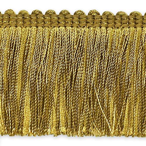 Expo International Alina Brush Fringe Trim, 20 yd, Gold
