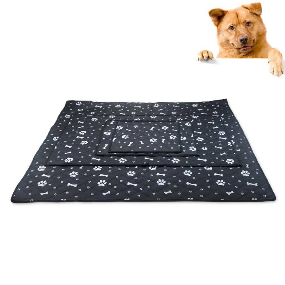 """Pet Dog Cat Self Cooling Mat Pad for Kennels, Car Seat, Crates and Beds for Summer Days Cooling Cushion Black XL-41.34""""×35.43"""""""