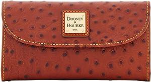 Dooney and Bourke Ostrich emb Continental Clutch Cognac