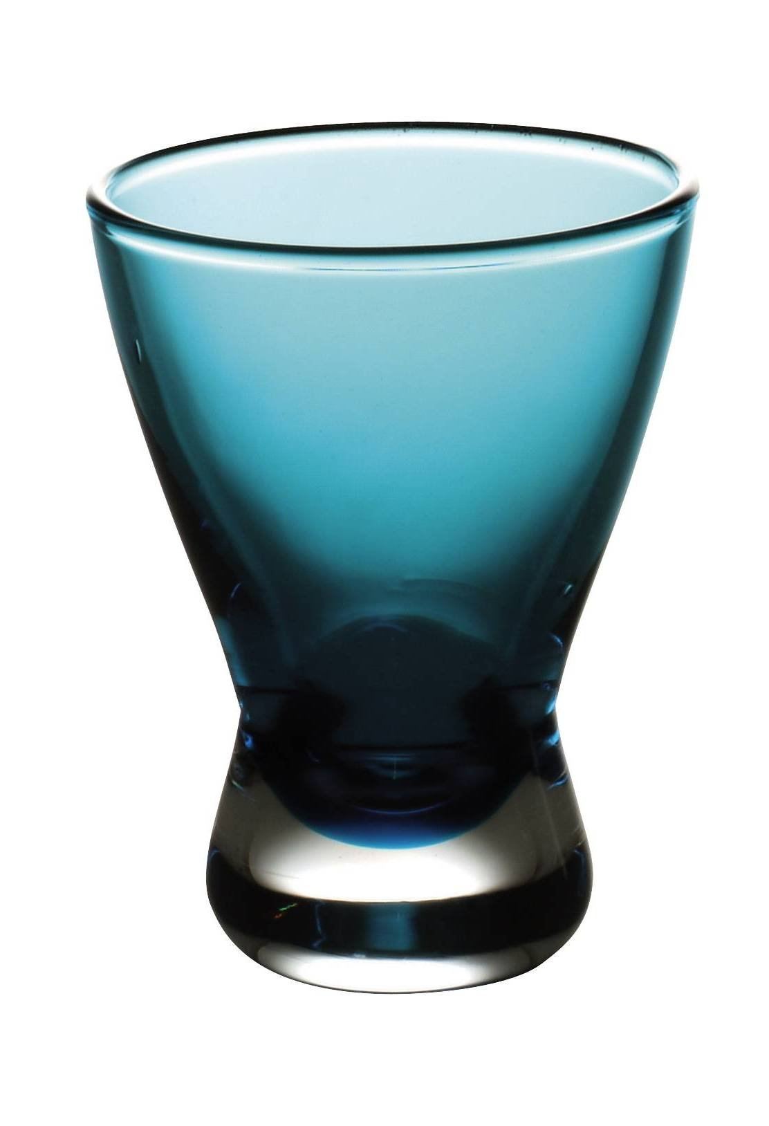 Barski - European Quality - Set of 6 - handmade - Liquor - Glass - Turquoise - 2 oz. - Made in Europe - Set of 6