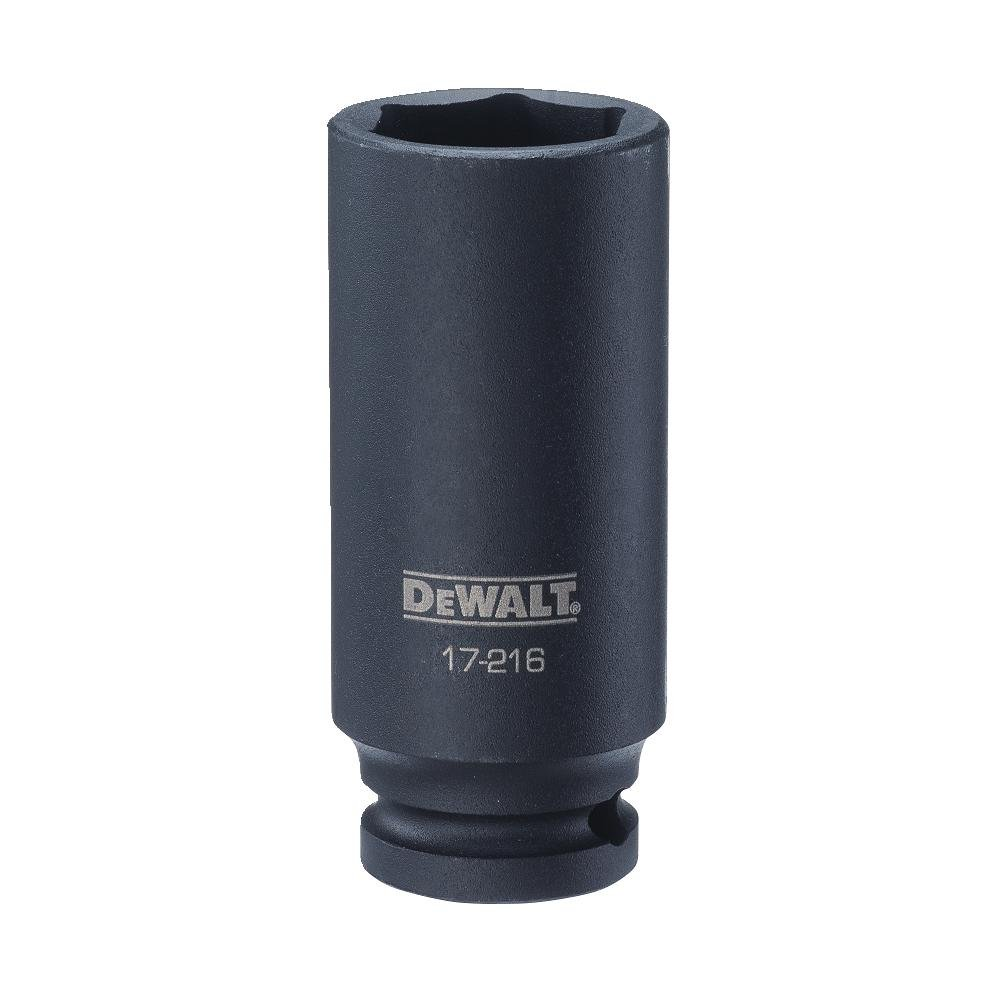 DEWALT 1/2'' Drive Impact Socket Deep 6PT 25MM