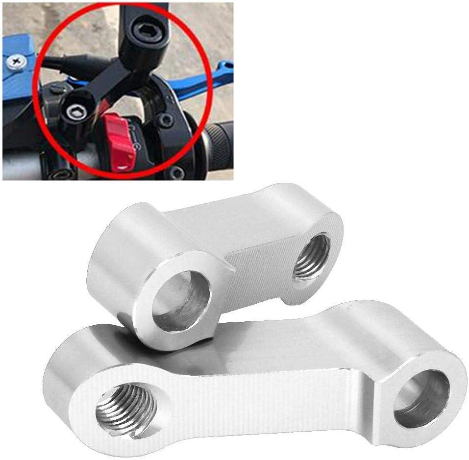 Noir Terisass R/étroviseurs Riser Extender M10//M8 R/étroviseurs de moto Riser Extender Bracket Adapter Adaptateur Moto Modified Mirror Extension Mounts Universal