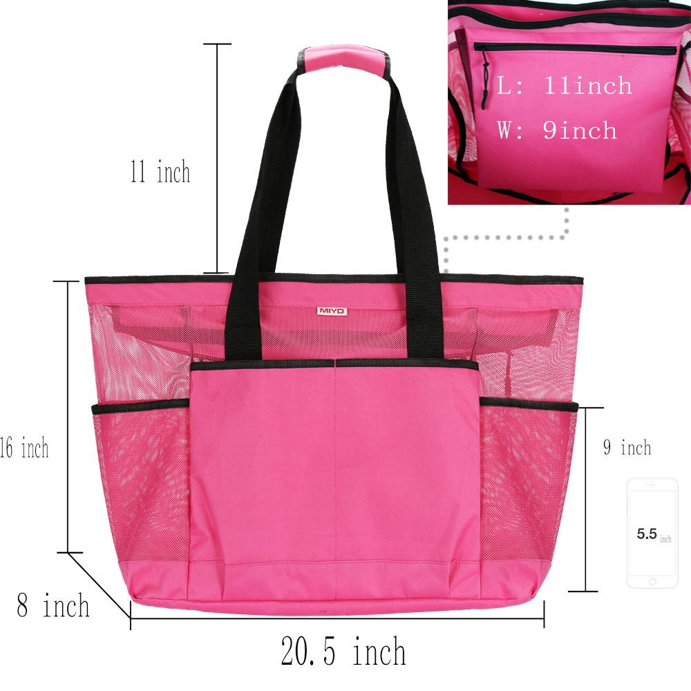 Mesh Beach Bag -Extra Large Beach Tote Bag - Grocery    Picnic Tote Travel 7fa5c7b458