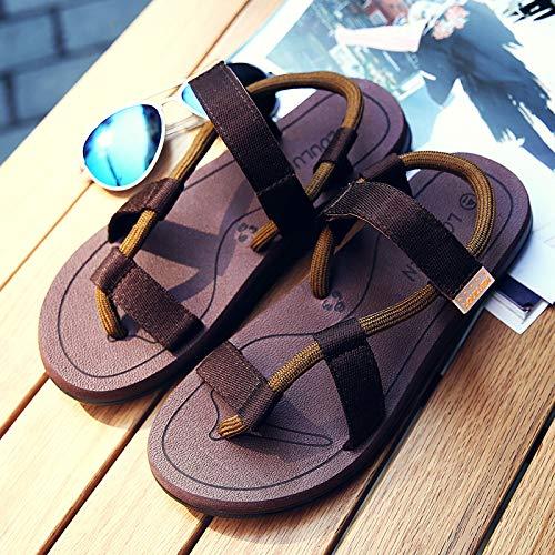 dise con KMJBS Sandalias caf Summer Playa o Zapatos Clip Zapatos Pareja Casuales Antideslizantes de de para BOTInqO
