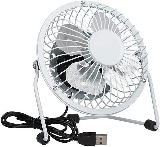 HUI JIN Handheld Rechargeable USB Fan 3 Speed Adjustable Cooling Fan White