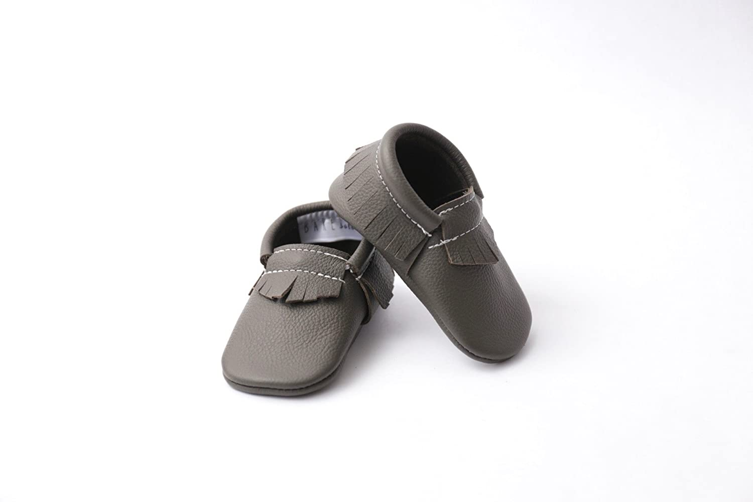 Stone Grey Handmade Leather Moccasin