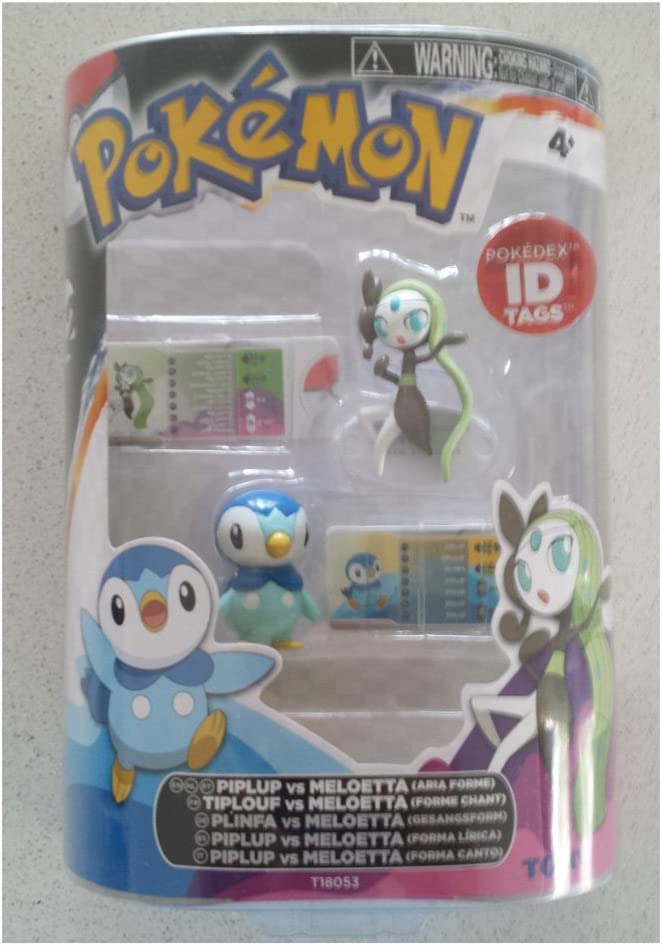 Pokémon - Pokémon. Pack 2 figuras - Piplup vs Meloetta [Juguete ...