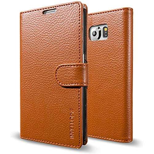 Galaxy S7 Case, INVELLOP Orange Galaxy S7 Case Cover Slim Leather Wallet case for Samsung Galaxy S7 Sales