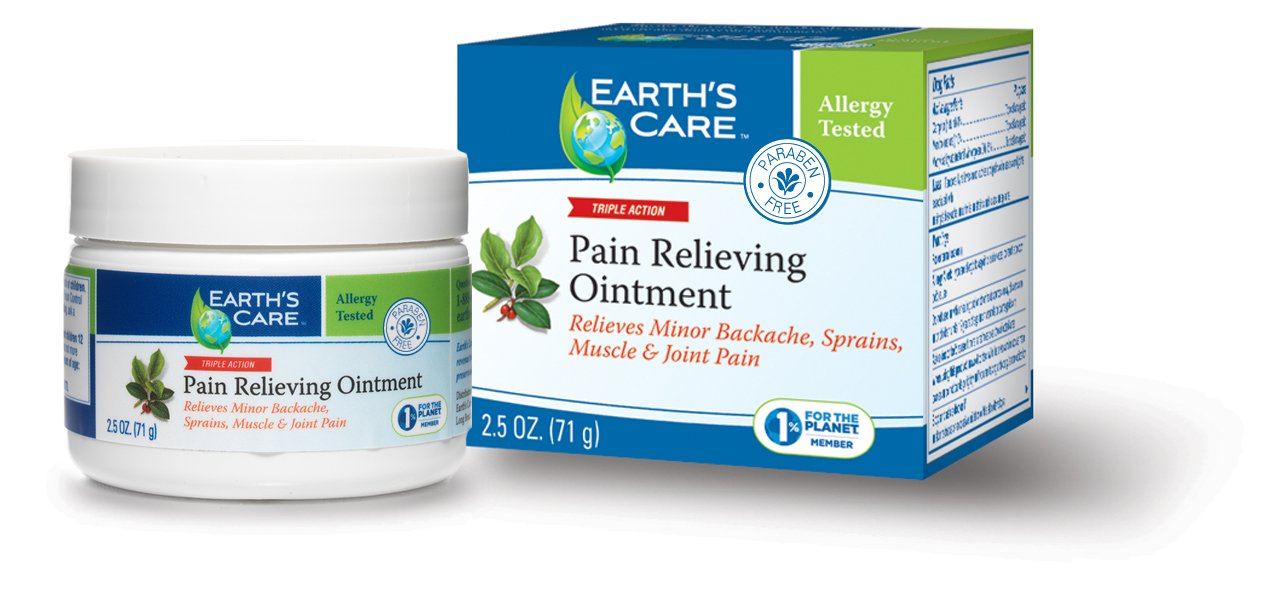 Earth's Care Pain Relieving Ointment 2.5 OZ/No preservatives, colors or fragrances