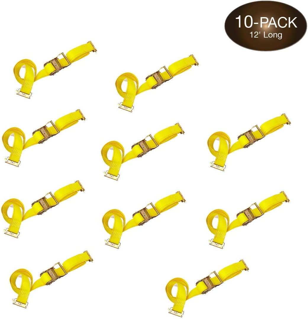 DC Direct stock discount Cargo Mall 10 E Track 2 TieDowns Ratcheting OFFicial shop 1 Straps x