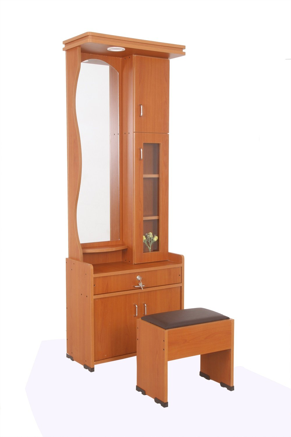 Indian dressing table designs with mirror - Joy S Furnitures Hi Tech Dressing Table With Storage Light And Stool