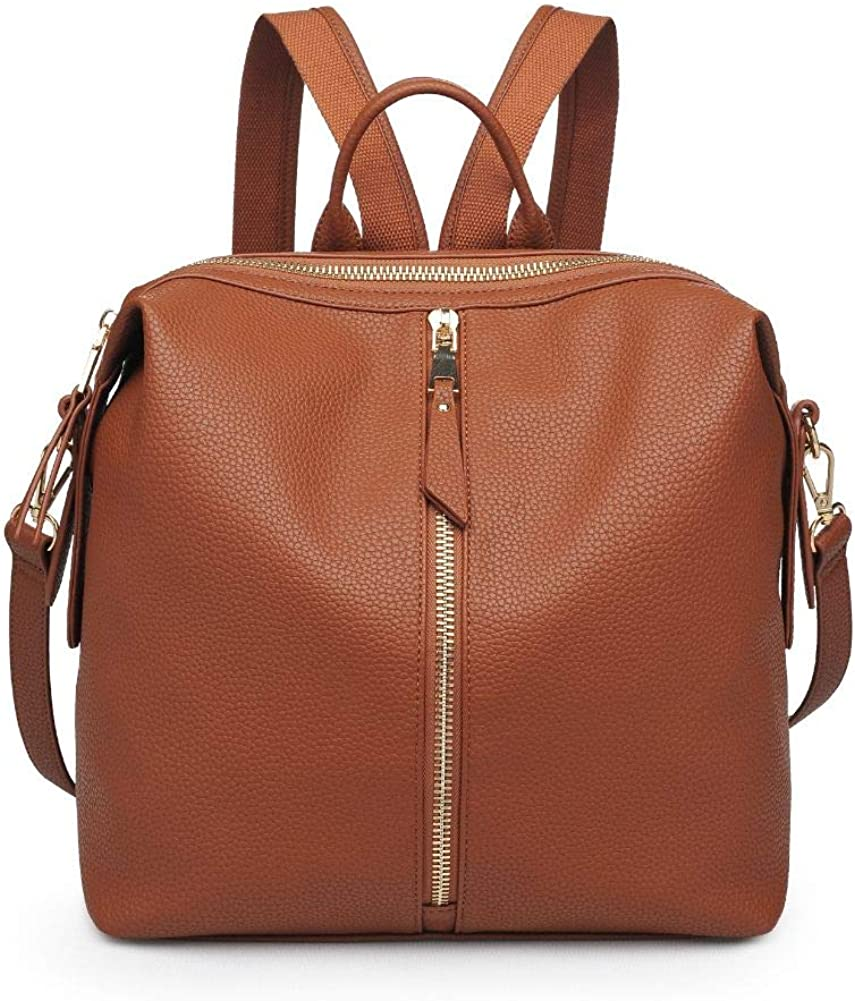Urban Expressions Stylish Kenzie Pebbled, Vegan Leather, Backpack, Assorted Colors