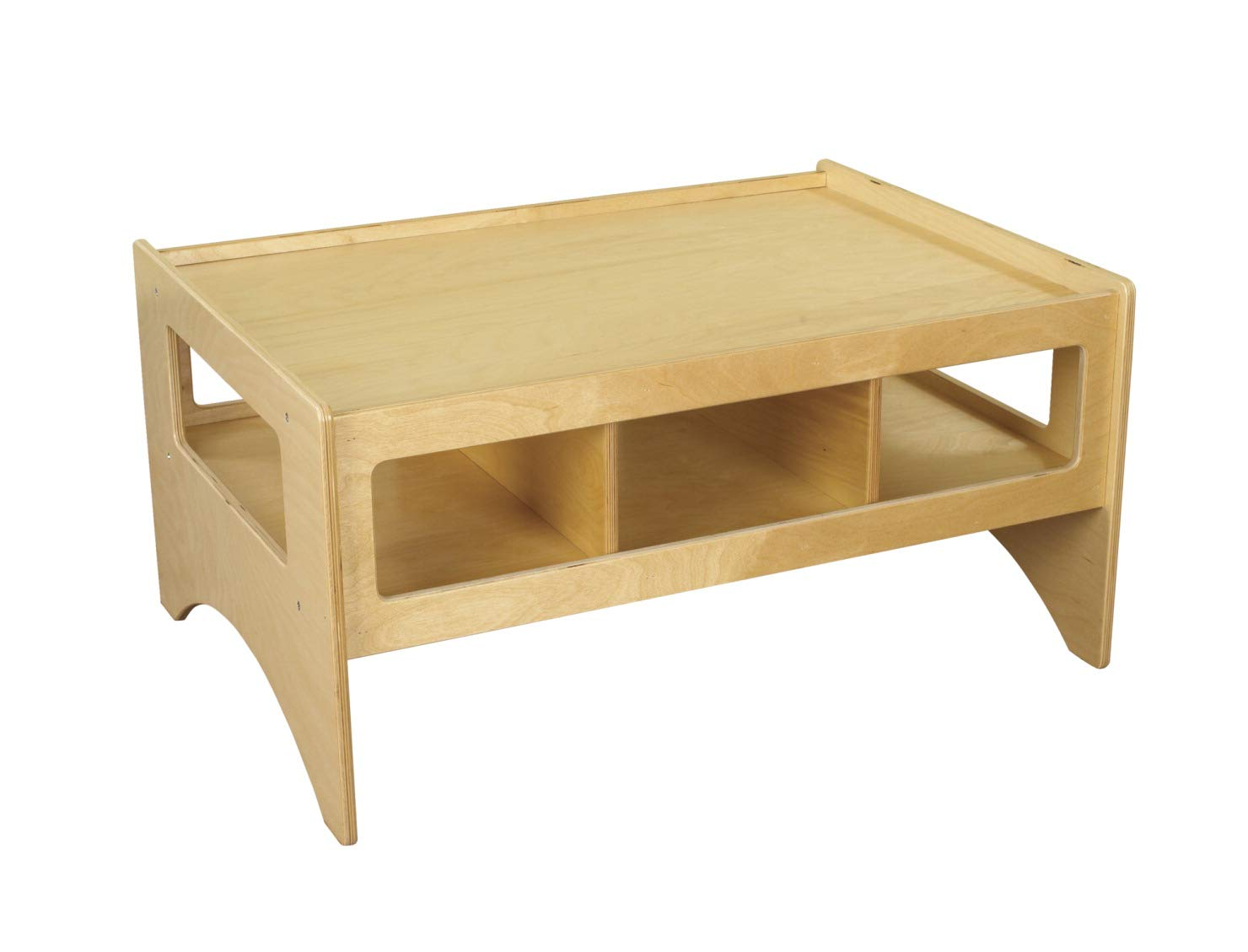 Childcraft 1464164 Multi-Purpose Play Table, Wood, 36'' x 26'' x 18'', Natural Wood Tone