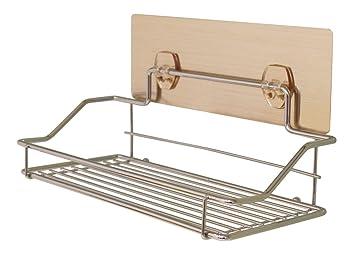 JustNile bandeja de pared extraíble adhesivo; ducha caddy/especias/limpiadores de baño soporte para cocina o baño - sin taladros; Fuerte y Durable: ...