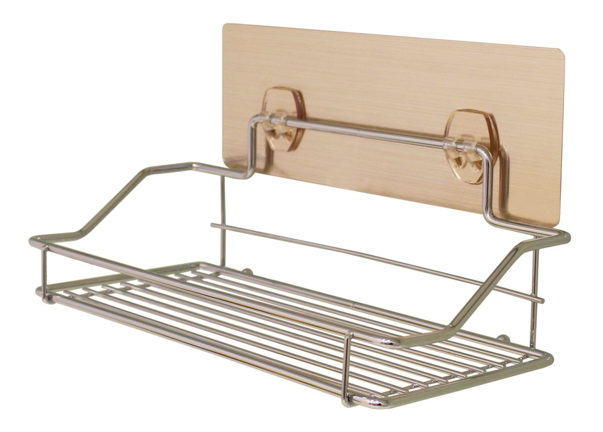 Drill-Free| Removable| Reusable Adhesive Wall Tray | Shower Caddy/Spice Rack/Bathroom Cleaners Holder | Shampoo Lotion Holder - Durable Shallow Rack