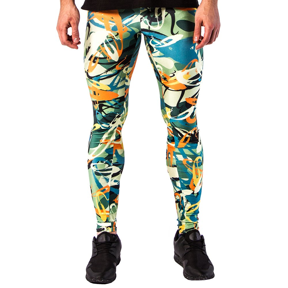 Kapow Meggings PANTS メンズ B0751MV83H Large|Electric Graffiti Electric Graffiti Large