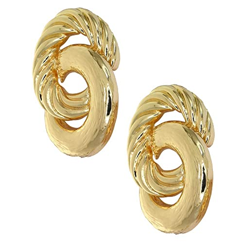 Amazon.com: ForFashion - Pendientes de oro hueco geométricos ...