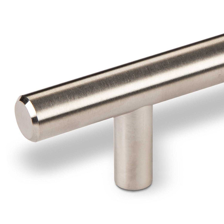10 x SO-TECH/® Poign/ée de meuble G14 Acier Affin/é Poign/ée barre Distance de trous 64 mm