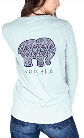 3ac725f42442c2 Amazon.com  Women s Crew-Neck Casual T Shirt Costume Long Sleeves Elephant  Graphic Chic Blouse Tees Top  Clothing