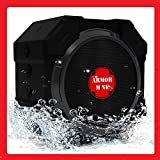 Portable Wireless Bluetooth Speakers 4.1 | Waterproof Ipx5 Super Rugged Hi-def Bass Subwoofer, For Iphone Ipod Ipad Phones Tablet Echo Dot | Best Outdoor Speaker Gift Octagon Smack Black ARMOR MiNE