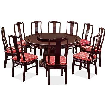 Phenomenal Amazon Com Chinafurnitureonline Rosewood Round Dining Inzonedesignstudio Interior Chair Design Inzonedesignstudiocom