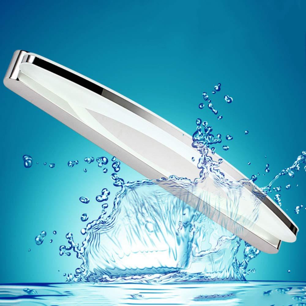 NHX Spiegellampen Modernes Minimalistisches Badezimmer Wasserdicht Und Anti-Fog Acryl Spiegel Scheinwerfer Schlafzimmer Edelstahl Kosmetikspiegel Wandleuchte,WarmWeißlight-21.25in