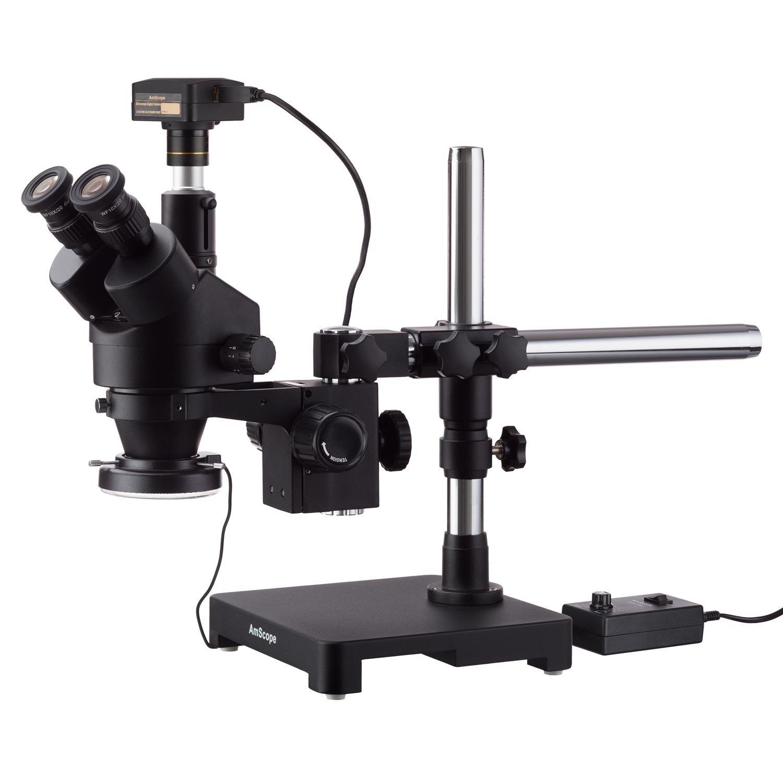 Amscope 3,5 x 180 x schwarz Trinokular Stereo Stereo Stereo Zoom Mikroskop auf Single Arm Boom Ständer  144 LED ring-light mit 18 MP USB 3.0 Kamera B0777SCHWM | Online Outlet Shop  | Exquisite Verarbeitung  | Feine Verarbeitung  e84577