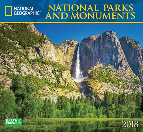 Charity Calendar - National Geographic National Parks & Monuments 2018 Wall Calendar