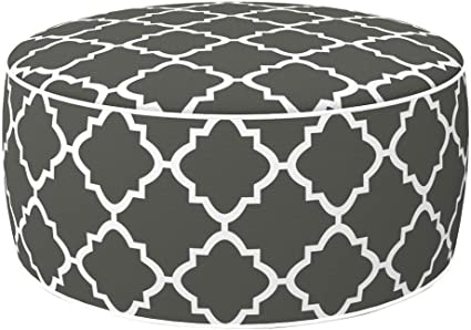 Aktive 79031 - Puff hinchable Ottoman, poliéster hilado, repele el agua, 53 x 23 cm, mosaico gris