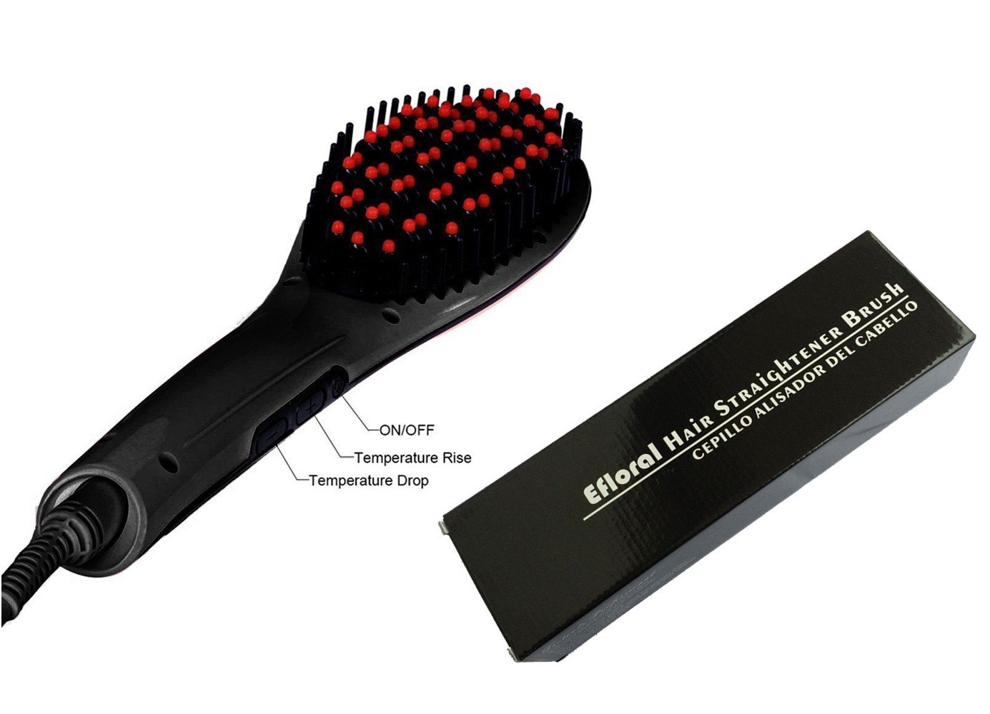 Amazon.com : Efloral Brush Hair Straightener, Detangling Hair Brush for Faster, Instant Magic Silky Straight Hair Styling, zero Damage, Anion Hair Care, ...