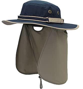 01d102e9111 Tofern Men s Women s UPF50+ Sun Hat 360¡ã UV Protection Cap with Neck Flap  Chin Strap Breathable Moisture Wicking for Outdoor Fishing Travel Beach  Casual