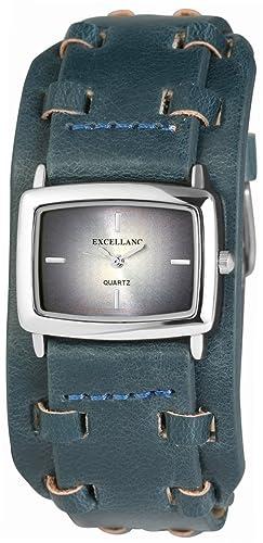 Excellanc Damen-Armbanduhr Analog Quarz Leder 295023000107