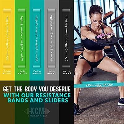 Gliding discs Bonus Loop Bands BONUS eBook For Core Slider Workouts /& Resistance Loop Bands