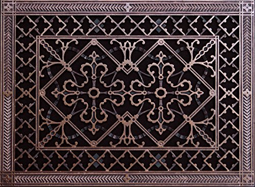 "Decorative Grille, Vent Cover, or Return Register. Made of Urethane Resin to fit over a 14'x20' duct or opening. Total size of vent is 16""x22'x3/8', for wall and ceiling grilles (not for floor use)."