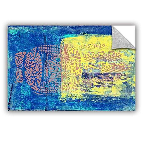 """Elana Ray's Blue with Stencils Art Appeelz Removable Graphic Wall Art, 12 x 18"""""""