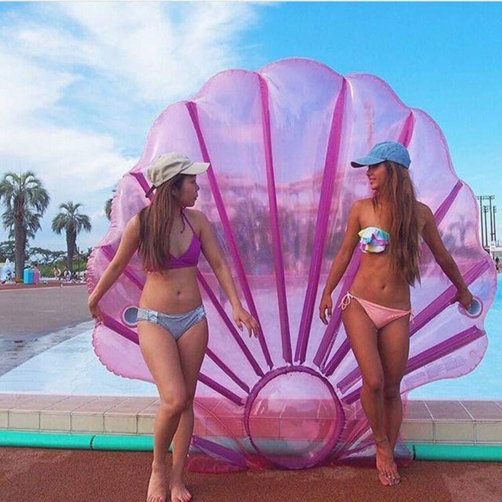 Amazon.com: Cheng-store Shell Piscina Flotadores Piscina al aire Libre Fiesta en el salón Balsa Decoraciones Juegos de juguetes acuáticos Forma de Perla ...
