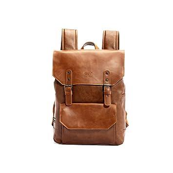 cb2ecac956597 YFbear Kunstleder Rucksack Vintage Schulranzen Schultasche Laptop (14   quot )Wanderrucksack Hiking Backpack Damen