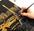 BAIXI City Night Scene Painting Diy Scratch Art Paper Gift Creative Birthday Gift?Scratch boards
